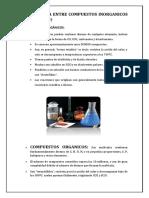 Compuestos Organicos e Inorganicos