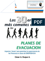 Los 30 Errores Mas Comunes en Planes de Evacuacion - CESAR DUQUE - Version eBook Julio 2017