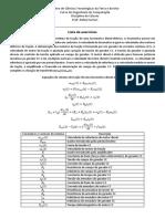 Lista de Exercícios Cálculo - Tranformada de Laplace