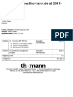 Print Out Order - Thomann Greece