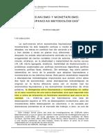 Meller Keynesianismo y Monetarismo Discrepancias Metodológicas (1)