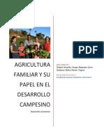 Agricultura Familiar y Su Papel en El Desarrollo Campesino