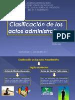 Clasificacion de Los Actos Administrativos