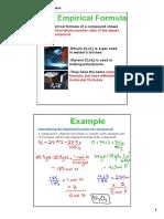 7 empirical   molecular formulas