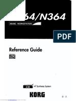 KORG N364 REFERENCE GUIDE