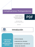 Complicaciones Postoperatorias