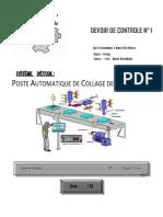 Devoir de Contrôle N°1  -Technologie  Poste Automatique de Collage des Etiquettes -1ère AS (2013-2014) Mme Toumi Ben abdallah Imen(full permission)