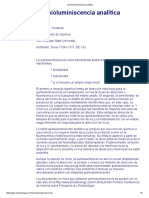 Quimioluminiscencia analítica