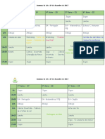 Planificação semanal