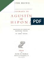 Peter Brown Biografia de Agustin de Hi