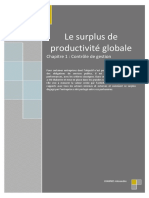 Le Surplus de Productivité Globale