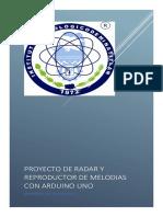 Reporte de Proyecto de Radar y Reproductor de Melodias