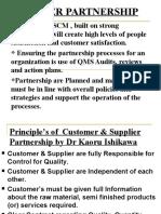 TQM Supplier Partnership