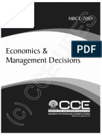 Economics and Management Decions