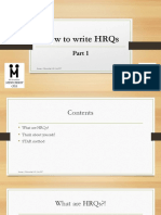 HRQ Writing Tips - Part I