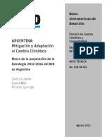 Argentina - IDB-TN- 621 Agosto 31