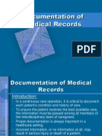 Documentation of medical records