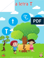 09 La Letra t Material de Aprendizaje Imprenta