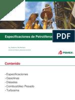 MPO Productos Petrolíferos Especificaciones 2 Mar 2015