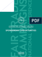 Fair Trade Campaigns National Conference Sponsorship Opportunities