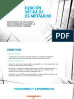 Caracterización Metalográfica de Aleaciones Metálicas