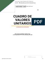 Valores Unitarios _ Colegio de Arquitectos Del Perú - Regional Lima