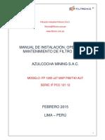 Manual Operacion Filtro Prensa 1200 x 27 Mxp