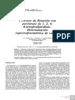 Procesos de Flotación Con Perclorato de 1, 2, 4, 6-Tetrafenilpiridinio