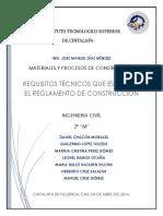 Requisitos Técnicos que Establece el Reglamento de Construcción