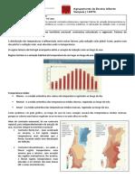 Ficha Informativa a Distribuição Da Temperatura No Território Nacional