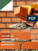 Informe Tecnico de Albañileria Ensayos