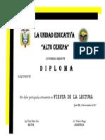 Diploma de Participación