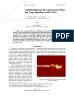 Simulation of Optical Distortions of Two-Dimensional Shear Layer Using Large Structure Model (LSM)