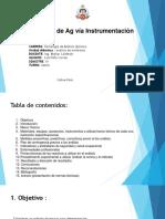 Análisis de Ag Vía Instrumentación