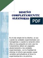 Diseño Completamente Aleatorio (Dca)