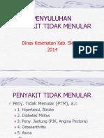 Penyuluhan PTM & Posbindu