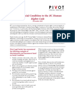 Social Condition and the BC Human Rights Code