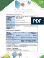 Guía de Actividades y Rúbrica de Evaluación – Paso 5 - Trabajo Final