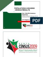 Kenyan Population and Housing Census  PDF