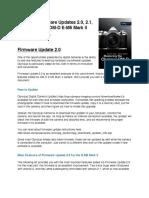 Olympus OMD-EM5-MarkII Firmware Updates Info