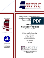 Fhwa Ms Dot Rd 13 206(Soil Cement)