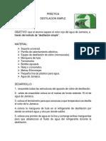 Practica Destilacion