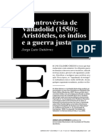GUTIÉRREZ Jorge Luiz. a Controvérsia de Valladolid