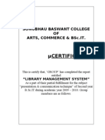Project Document On Library Management System Libraries Language