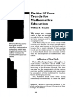 Mat 1978 Trends for Math Education