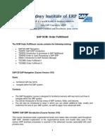 SCM Order Fulfillment Outline