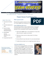 Dream Divers Dive club September 2010 Newsletter
