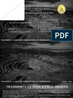 Transporte y Acarreo en Mineria Subterranea