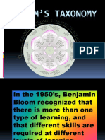 Bloom's Taxonomy PPT Show