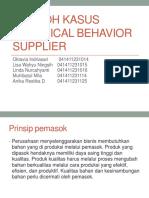 Contoh Kasus Unethical Behavior Supplier